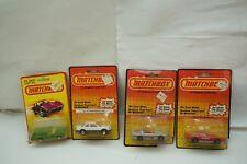 VINTAGE MATCHBOX CARS LOT 4 1980 1983 1-75 LESNEY ENGLAND MIP MOC MINT COUGAR d
