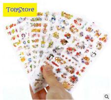 6 pcs/set Cute Cats Flowers Cartoon Animals Sticker PVC Cartoon Stickers Diary S