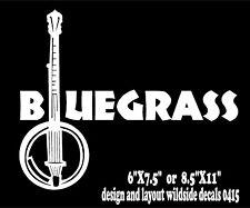 Bluegrass Banjo Decal Music Strings Vinyl Car Truck Sticker