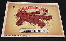 EDIBLE ERNIE 1986 Topps Garbage Pail Kids ERROR Faint Light #187b OddBaLL Rare