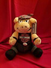 "NEW 10"" PIG Licensed Harley Davidson Stuffed Animal Plush Toy FREE Shipping"