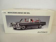 ( GOK ) 1:18 AUTOart Mercedes Benz 300 SEL 6.3 1970 Black NEU OVP