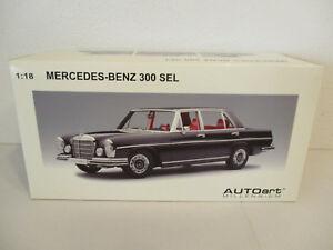 (Gok ) 1:18 AUTOart Mercedes Benz 300 Sel 6.3 1970 Black New Boxed