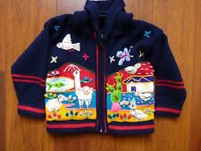 Child  kid Sweater Made in Ecuador Hand Made Dinosaur Wool 4T to 5T