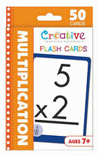 NEW 50 Multiplication Flash Cards 2nd 3rd 4th Grade Teaching Materials Ages 7+