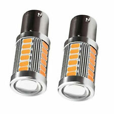 2x Amber Bright 1156 BA15S Daytime Running Lights DRL LED Bulb Canbus No Error