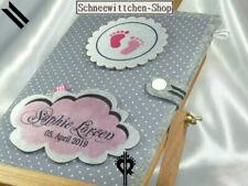U-Heft Hülle Buttons mit Babyfüsse und Wolke in rosa und grau