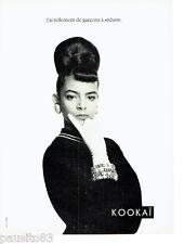 PUBLICITE ADVERTISING 056  1987  Kokai pret à porter mode 6