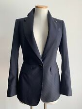 Redemption Italian Made Tailored Blazer 40 Italian 4 US Pinstriped Navy Gray