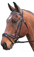 Horse Equestrian Eureka Leather Eventing Bridle & Reins Black Or Brown