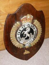 More details for ww11 military large 'royal artillery' cavalry egypt wall plaque/shield
