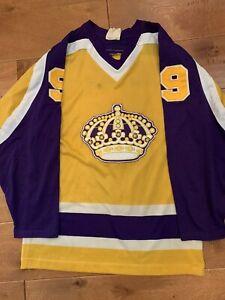 Sandow SK Los Angeles Kings Bernie Nicholls NHL Hockey Jersey Vintage Yellow SM
