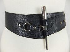 MARC KEHNEN - wunderschöner Echtleder Gürtel - schwarz - 85 - 95 cm