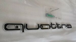 NEW RS Style Quattro world Logo Grille Emblem For Audi A12 3 4 5 RS A8 Q3 Q5 TT