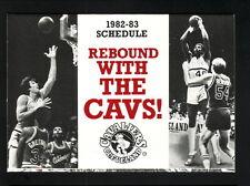 Scott Wedman & James Edwards-1982-83 Cleveland Cavaliers Schedule-Winston Lights