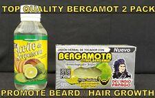TOP QUALITY BERGAMOTA SOAP & OIL PACK MEN BEARD GROWTH MASSAGE HIPSTER HAIR LOST