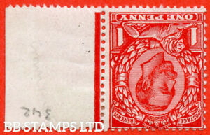 SG. 341wi. N11 (2) a. 1d Bright Scarlet. INVERTED WATERMARK. A fine mount B56885