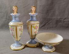 Vintage Jabeson Porcelain Vanity Set Perfume Bottle Lady Figurine Bowl 1944