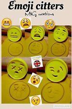 5 un. plástico emoji Bizcocho Masita Cortador Fondant Pastel Decoración Molde de 6 Cm