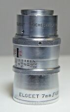 ELGEET 7mm WIDE ANGLE Lens USA Rochester NY f:1.9 - 22 No. 2398 Ring 1 ft - 6 ft