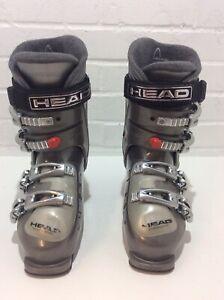 HEAD CYBER C9.5LADIES SKI BOOTS HEAT FIT, SIZE 25.0-25.5 (6-6.5 UK)