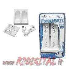 STAZIONE BASE DI RICARICA WII USB 4 BATTERIE 1600 mAh CONTROLLER RICARICABILE