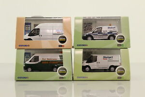 Oxford Diecast Bargain Box 4x 1:76 Eddie Stobart, Ford Vans; Excellent Boxed
