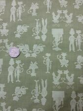London Cats 100% Cotton fabric Quilting Craft Benartex Green