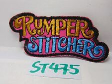 VINTAGE 1970'S EMBROIDERED PATCH SEW-ON HALLMARK HIPPIE RUMPER STITCHER COLORFUL