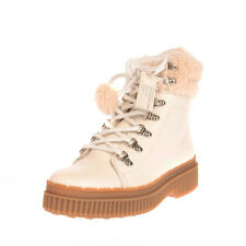 RRP €365 TOD'S Leather & Shearling Combat Boots EU 37 UK 4.5 US 7 Made in Italy