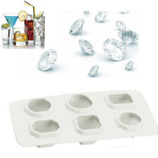 Diamonds Gem Cool Ice Cube Chocolate Soap Tray Mold Silicone Fodant Moulds WH AU