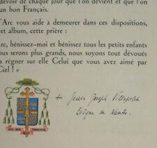 SAINTE JEANNE D'ARC Signature Évêque VILLEPELET Nantes 1945 Illustration MAXENCE