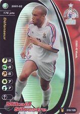FOOTBALL CHAMPIONS 2001-02 Mikael Silvestre 010/105 Equipe de FRANCE FOIL