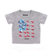 Camisas y camisetas gris para niños de 0 a 24 meses
