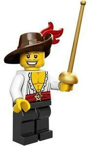 LEGO Minifigures Series 12 Swashbuckler Minifig - three musketeers sword fighter