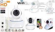 IP Camera telecamera WIFI videosorveglianza motorizzata infrarossi,micro SD 64Gb