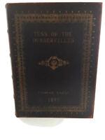 "Tess Of The Durbervilles Thomas Hardy Wooden Storage Box 11.5""x9"" Maroon Velvet"