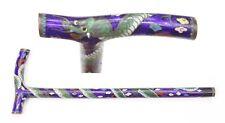 Antique Japanese Cloisonne Parasol Handle Meiji Period Enamel Dragon Umbrella