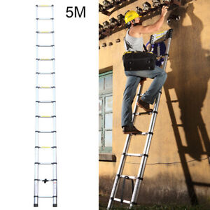5M Heavy Duty Portable Multi-Purpose Aluminium Télescopique Extensible échelle F