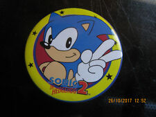 VINTAGE SONIC THE HEDGGEHOG 2 PIN BADGE VGC