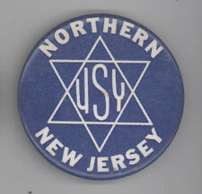 1960s USY United Synagogue Youth JEWISH Pin BUTTON Judaism Jew NEW JERSEY NJ