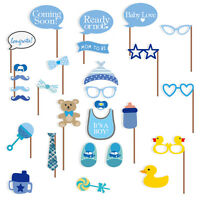 Baby Shower Photo Booth Props, Its a Boy Baby Decorations 29pcs, NO NEED DIY, US