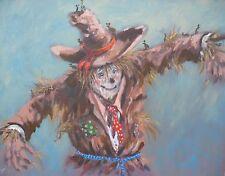 "SUPERB ORIGINAL ROYAL PATRONAGE ARTIST JOEL KIRK  ""Scarecrow""  PAINTING"