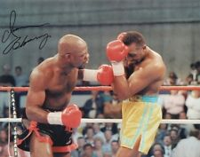 IRAN BARKLEY Signed 10x8 Photo WORLD MIDDLEWEIGHT BOXING CHAMPION COA
