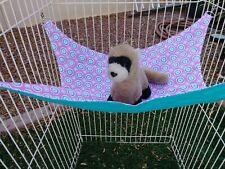 "Ferret Hammock - Pink & Blue Pattern - 13"" x 14"""