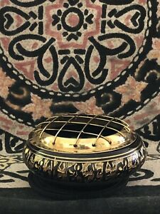 Black Ornate Low Profile Resin/Cone Burner Free Resin Sample