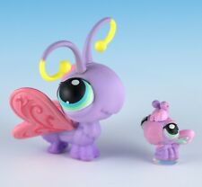 Littlest Pet Shop Butterfly #93 Lavender Purple + One Baby Teensies