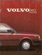 Volvo 360 Saloon 1984-85 UK Market Sales Brochure 300 Series GLE Injection