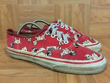 RARE🇺🇸 VANS Disney 101 Dalmatians Vintage Made In USA Authentic Era Low Sz 8