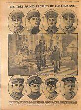 Prisoners Soldiers Feldgrauen Deutsches Heer/ QG Général Marchand  1916 WWI